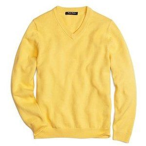 Brooks Brothers V-Neck Wool Long Sleeve Sweater,XL